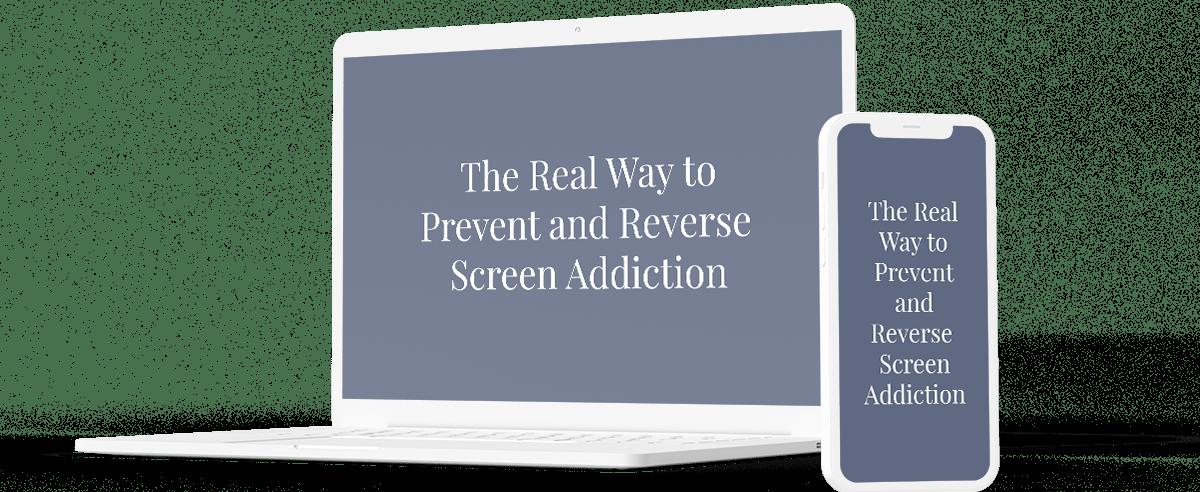 Screen addiction program on laptop and phone